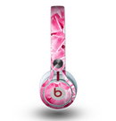 The Hot Pink Ice Cubes Skin for the Beats by Dre Mixr Headphones