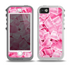The Hot Pink Ice Cubes Skin for the iPhone 5-5s OtterBox Preserver WaterProof Case