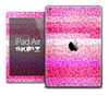 The Hot Pink Layered Cheetah Print Skin for the iPad Air