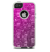 The Hot Pink Mercury Skin For The iPhone 5-5s Otterbox Commuter Case