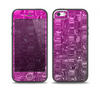 The Hot Pink Mercury Skin Set for the iPhone 5-5s Skech Glow Case