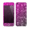 The Pink & White Vector Zebra Print Skin for the Apple iPhone 5s