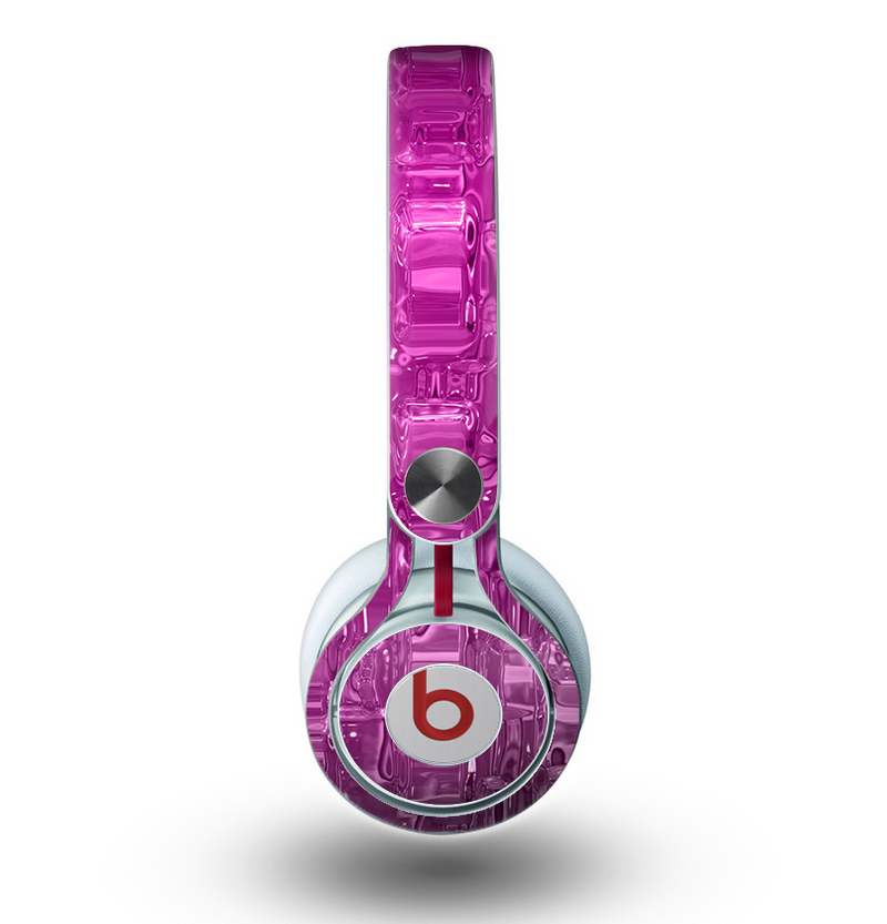 The Hot Pink Mercury Skin for the Beats by Dre Mixr Headphones
