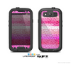 The Hot Pink Striped Cheetah Print Skin For The Samsung Galaxy S3 LifeProof Case