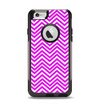 The Hot Pink Thin Sharp Chevron Apple iPhone 6 Otterbox Commuter Case Skin Set