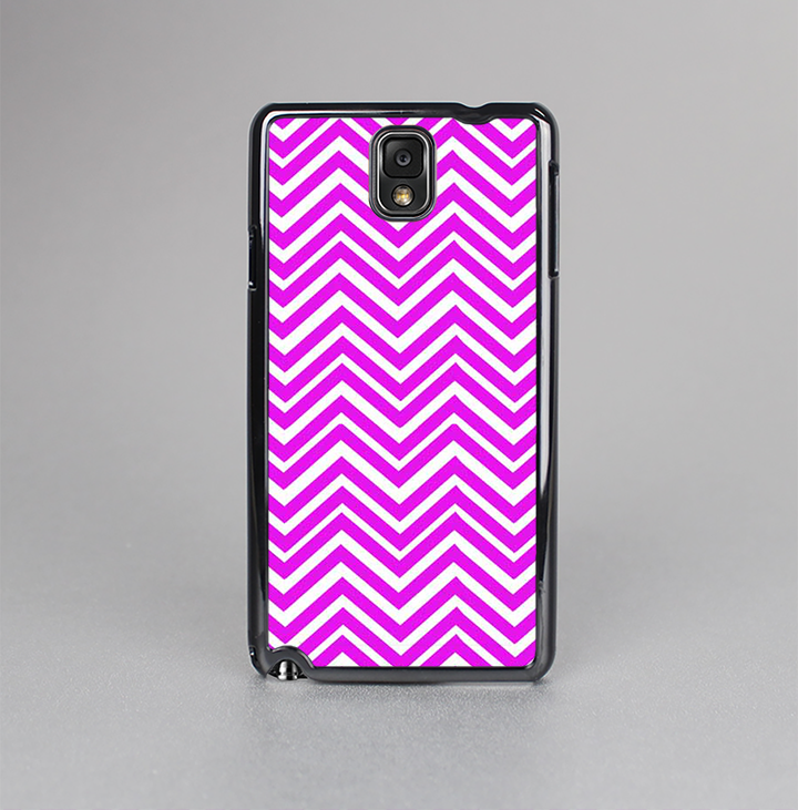 The Hot Pink Thin Sharp Chevron Skin-Sert Case for the Samsung Galaxy Note 3