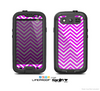 The Hot Pink Thin Sharp Chevron Skin For The Samsung Galaxy S3 LifeProof Case