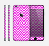 The Hot Pink Thin Sharp Chevron Skin for the Apple iPhone 6