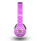 The Hot Pink Thin Sharp Chevron Skin for the Beats by Dre Original Solo-Solo HD Headphones