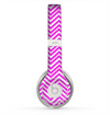 The Hot Pink Thin Sharp Chevron Skin for the Beats by Dre Solo 2 Headphones