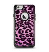 The Hot Pink Vector Leopard Print Apple iPhone 6 Otterbox Commuter Case Skin Set