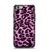 The Hot Pink Vector Leopard Print Apple iPhone 6 Otterbox Symmetry Case Skin Set