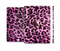 The Hot Pink Vector Leopard Print Full Body Skin Set for the Apple iPad Mini 3