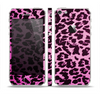 The Hot Pink Vector Leopard Print Skin Set for the Apple iPhone 5