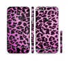 The Hot Pink Vector Leopard Print Sectioned Skin Series for the Apple iPhone 6 Plus