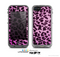The Hot Pink Vector Leopard Print Skin for the Apple iPhone 5c LifeProof Case