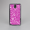 The Hot Pink & White Floral Sprout Skin-Sert Case for the Samsung Galaxy Note 3