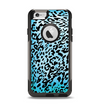 The Hot Teal Cheetah Animal Print Apple iPhone 6 Otterbox Commuter Case Skin Set