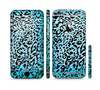 The Hot Teal Cheetah Animal Print Sectioned Skin Series for the Apple iPhone 6 Plus