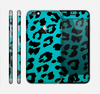 The Hot Teal Vector Leopard Print Skin for the Apple iPhone 6