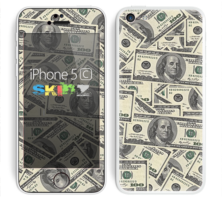 The Hundred Dollar Bill Skin for the Apple iPhone 5c