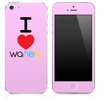 The I Love Wanelo Skin for the iPhone 3, 4-4s, 5-5s or 5c