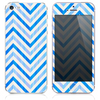 The Icey Sharp Chevron Pattern Blue Skin for the iPhone 3, 4-4s, 5-5s or 5c