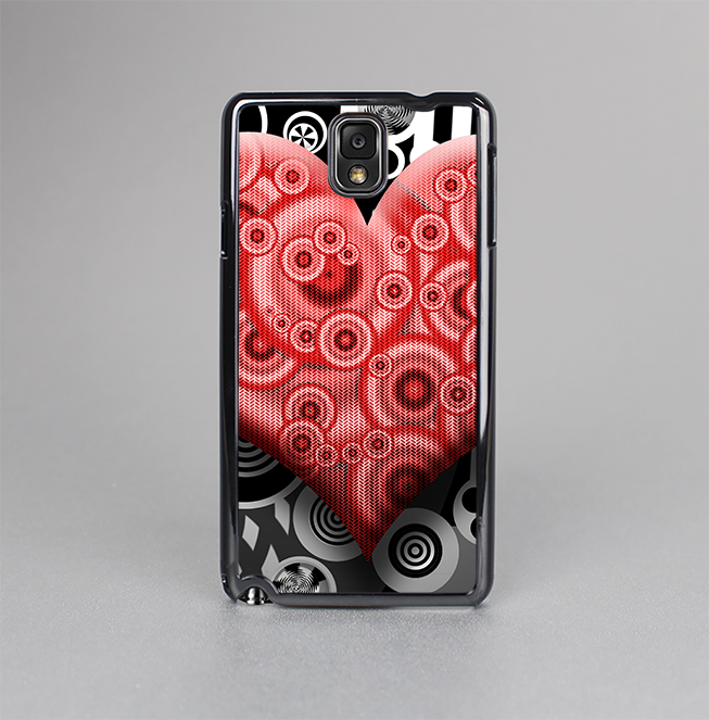 The Industrial Red Heart Skin-Sert Case for the Samsung Galaxy Note 3