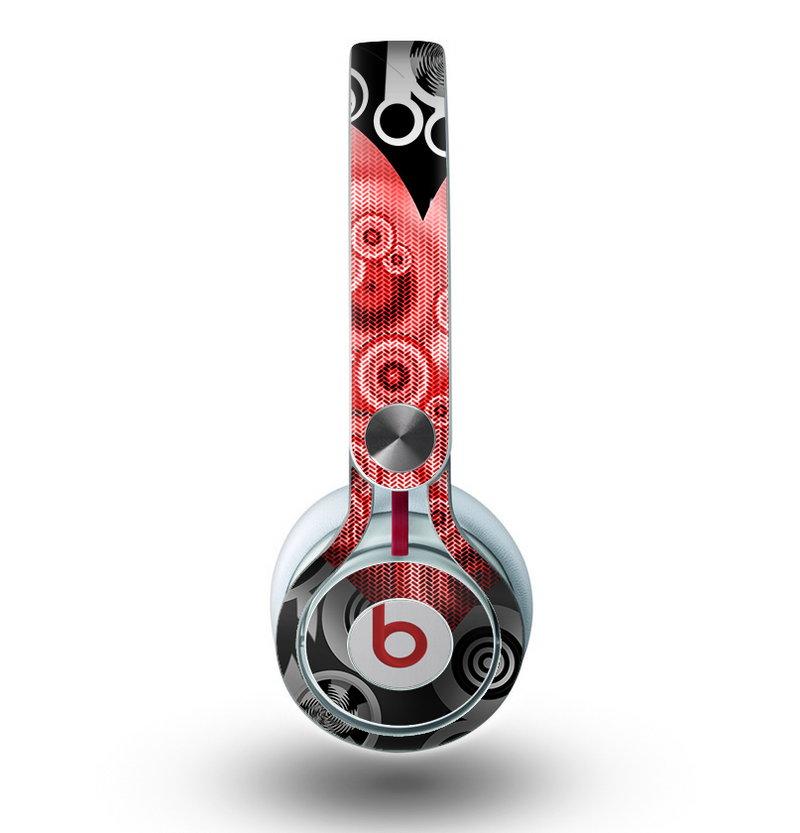 The Industrial Red Heart Skin for the Beats by Dre Mixr Headphones