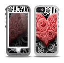 The Industrial Red Heart Skin for the iPhone 5-5s OtterBox Preserver WaterProof Case