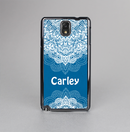 The Intricate Blue & White Snowflake Name Script Skin-Sert Case for the Samsung Galaxy Note 3