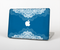 "The Intricate Blue & White Snowflake Name Script Skin Set for the Apple MacBook Pro 15"" with Retina Display"