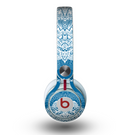 The Intricate Blue & White Snowflake Name Script Skin for the Beats by Dre Mixr Headphones