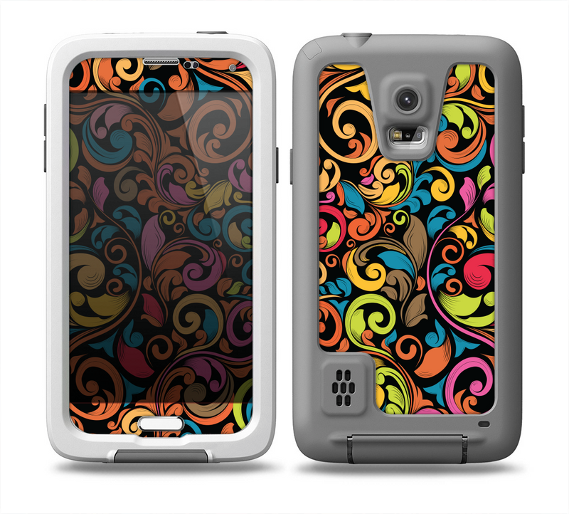 The Intricate Colorful Swirls Skin for the Samsung Galaxy S5 frē LifeProof Case