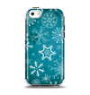 The Intricate Snowflakes with Green Background Apple iPhone 5c Otterbox Symmetry Case Skin Set