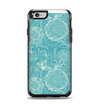 The Intricate Teal Floral Pattern Apple iPhone 6 Otterbox Symmetry Case Skin Set