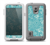 The Intricate Teal Floral Pattern Skin for the Samsung Galaxy S5 frē LifeProof Case