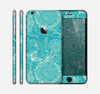 The Intricate Teal Floral Pattern Skin for the Apple iPhone 6 Plus