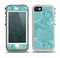 The Intricate Teal Floral Pattern Skin for the iPhone 5-5s OtterBox Preserver WaterProof Case