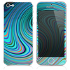 The Inverted Abstract Color Whirls V3 Skin for the iPhone 3, 4-4s, 5-5s or 5c