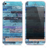 The Inverted Grungy Vintage Wood Planks Skin for the iPhone 3, 4-4s, 5-5s or 5c