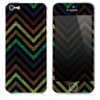 The Inverted Icey Sharp Chevron Pattern V4 Skin for the iPhone 3, 4-4s, 5-5s or 5c