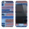 The Inverted Vintage Color Wood Planks Skin for the iPhone 3, 4-4s, 5-5s or 5c