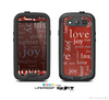 The Joy & Love WordCloud Wallpaper Skin For The Samsung Galaxy S3 LifeProof Case