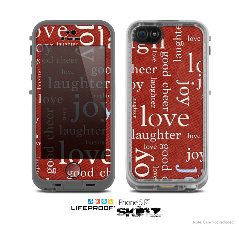 The Joy & Love WordCloud Wallpaper Skin for the Apple iPhone 5c LifeProof Case