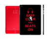 The Keep Calm & Beats On Red Skin Set for the Apple iPad Mini 4