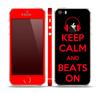 The Keep Calm & Beats On Red Skin Set for the Apple iPhone 5s