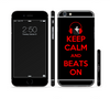 The Keep Calm & Beats On Red Sectioned Skin Series for the Apple iPhone 6