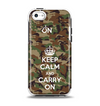 The Keep Calm & Carry On Camouflage Apple iPhone 5c Otterbox Symmetry Case Skin Set