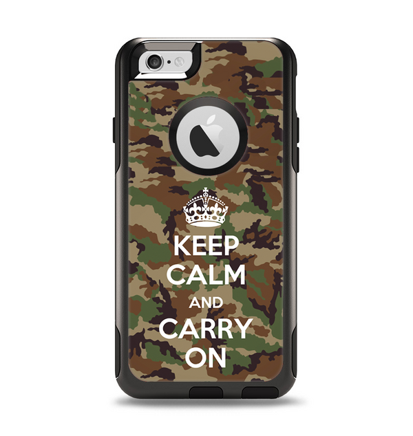The Keep Calm & Carry On Camouflage Apple iPhone 6 Otterbox Commuter Case Skin Set